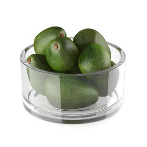 3d model avocado bowl