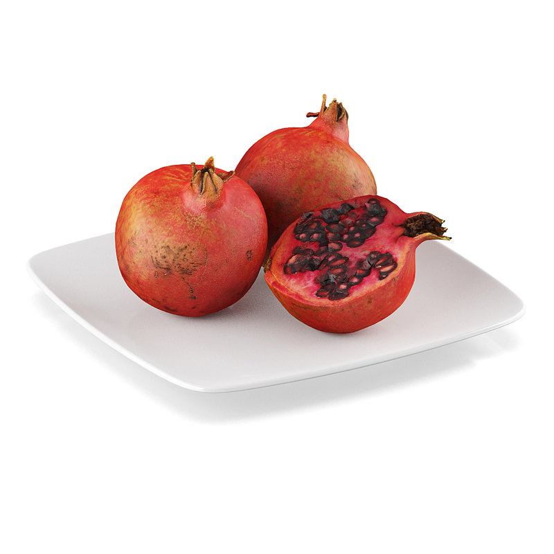 3d c4d pomegranate fruit