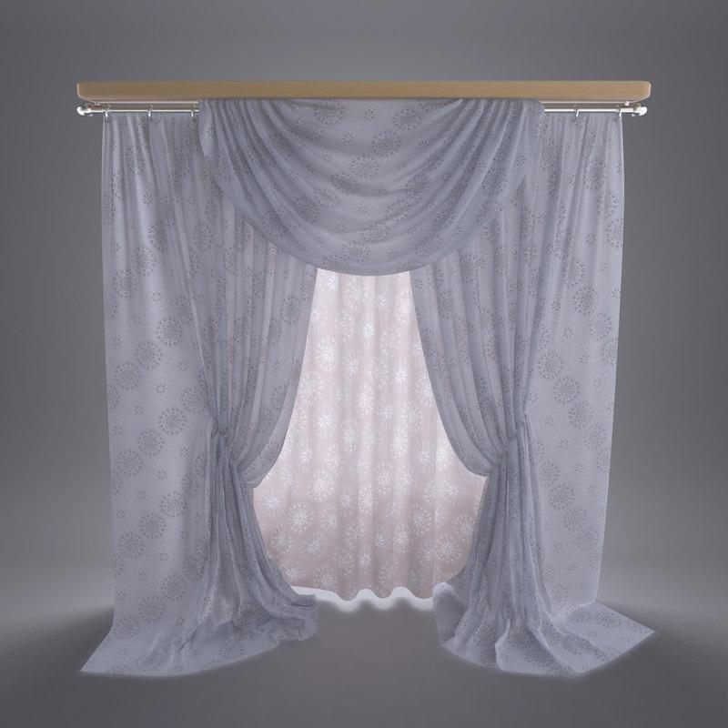 curtain interior 3ds