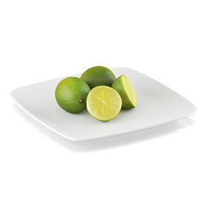 lime fruits 3d c4d