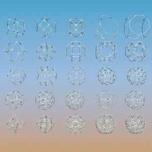 geometric shape pack 3d max