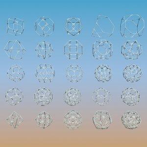 3d geometric shape pack 25