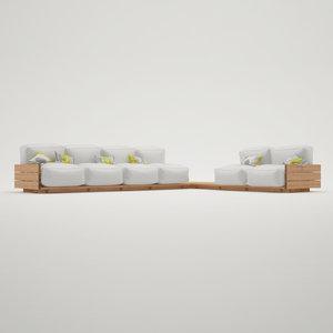 3d model pallet sofa