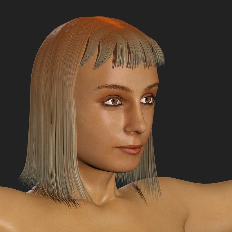 3d blend realistic woman