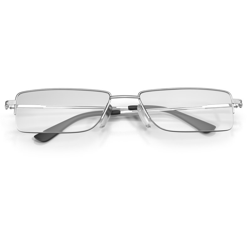 3d model glasses 6 folded