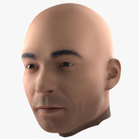 3d male head 3 modeled