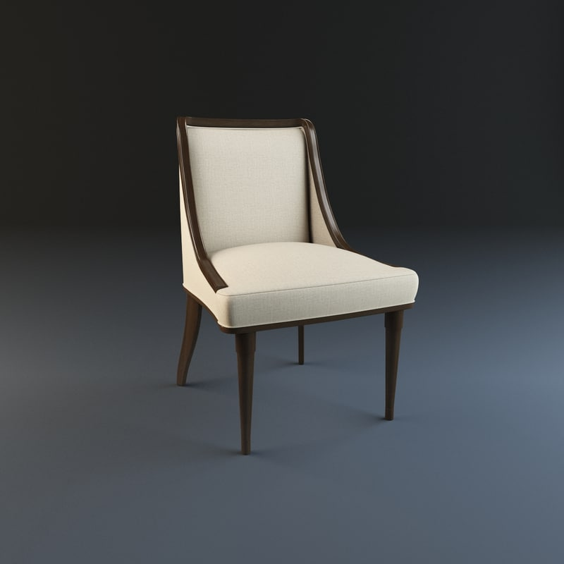 3d model of baker signature dining chair