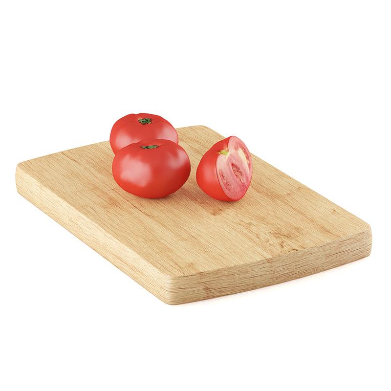 half tomato 3d max