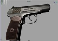 soviet makarov pm pistol 3d model