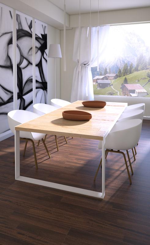 3d model house living room
