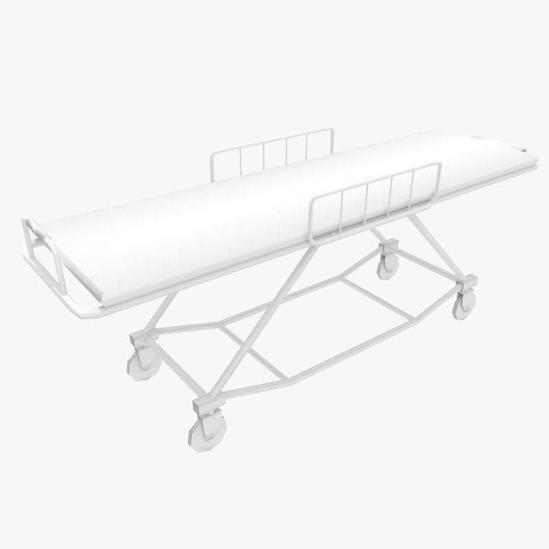 3d ambulance stretcher