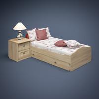 3d model bed lamp