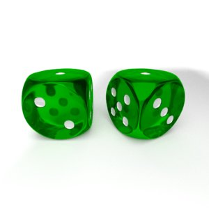 pair dice obj