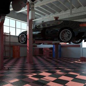 car service interior 3d max