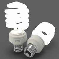 3d energy saving light bulb model