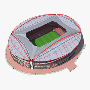 3d model of stadium estadio da luz