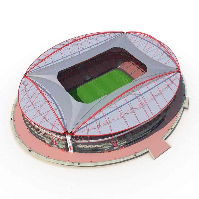 3d model of stadium estadio da luz for Piso 0 estadio da luz