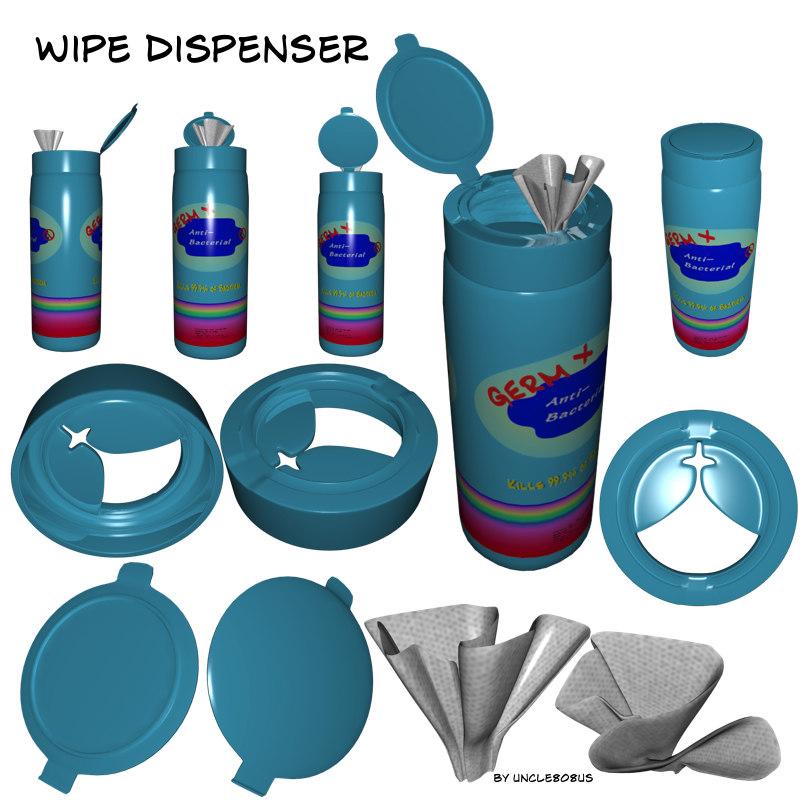 x dispenser wipe