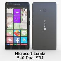 3d model microsoft lumia 540 dual