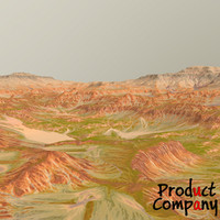 3d hills cliffs terrain