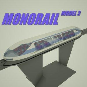monorail 3 3d c4d