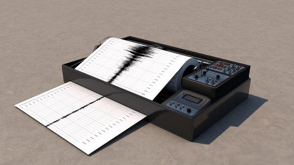 seismometer seismic waves 3d 3ds