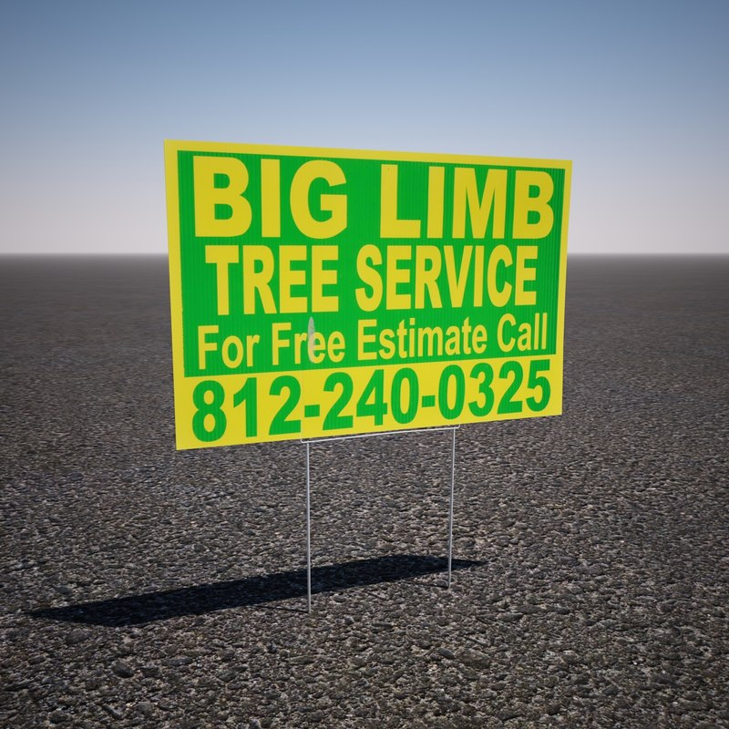 3ds max yard service sign