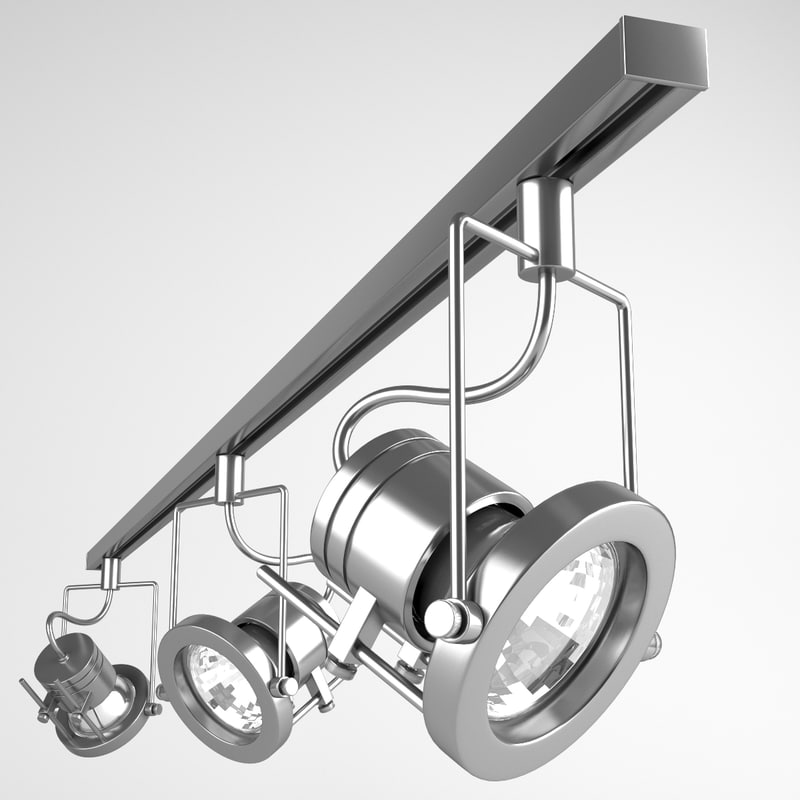 3d model track lights