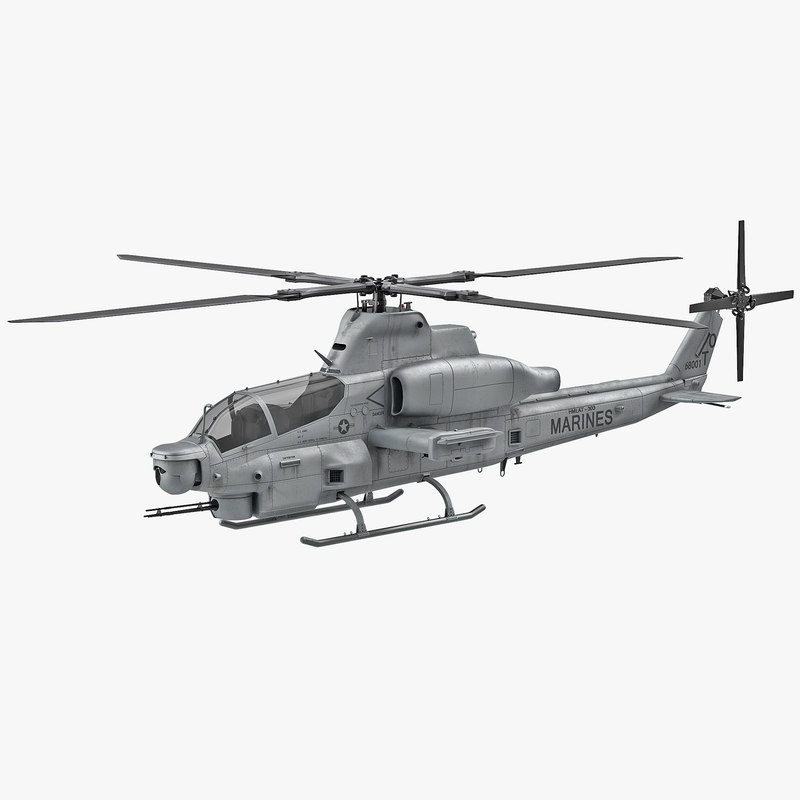 attack helicopter bell ah 3d model