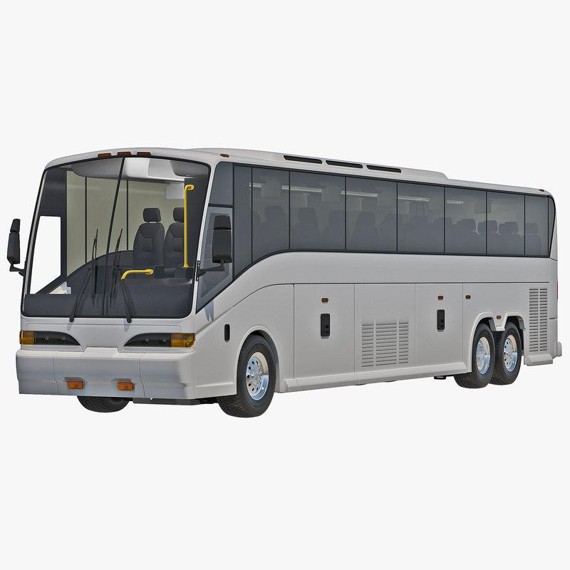 charter bus 3d model