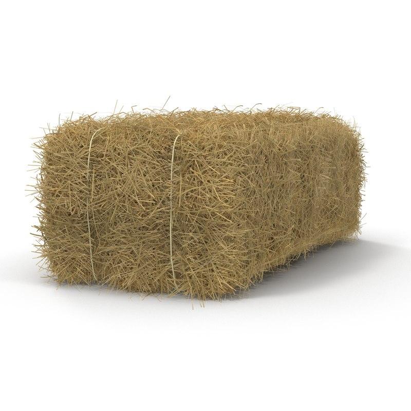 3d model hay bale