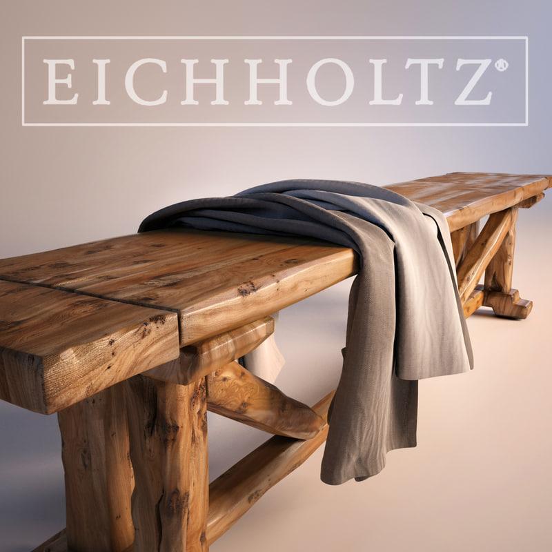 eichholtz bench 3d max
