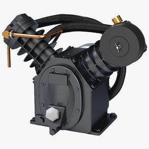 3d twin cylinder air compressor model