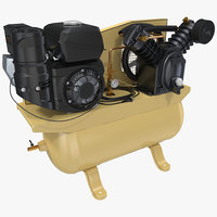Piston Air Compressor 3D Model