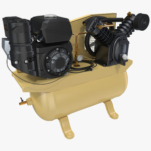 piston air compressor modeled 3d max