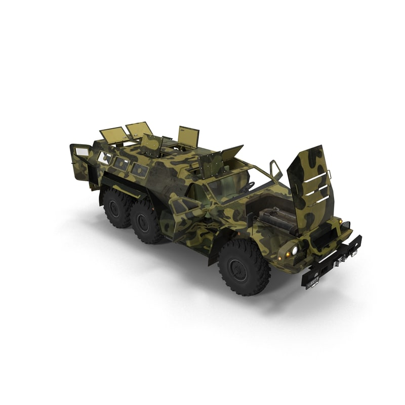 3d model russian armored