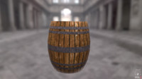 free wood barrel 3d model