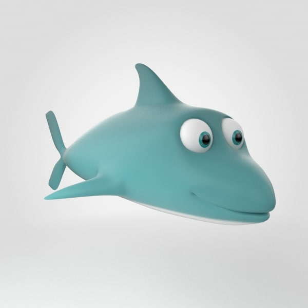 3d model of dolphin