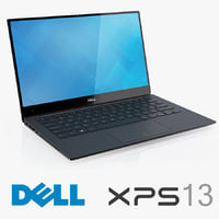dell new xps 13 3d model