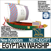 3d model ancient egypt warship kepnet