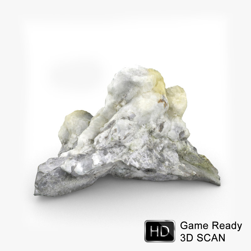 scanned rock realistic 3d model