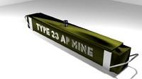 3d model landmine width