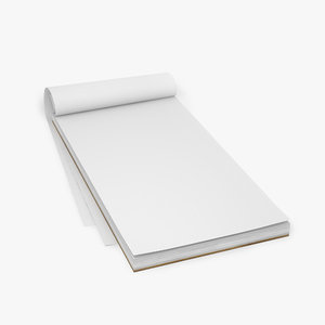3d notepad paper write