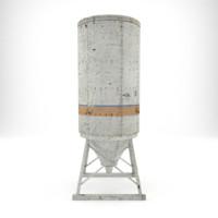 3d silo render