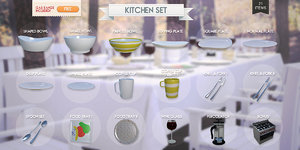kitchen set 3d 3ds