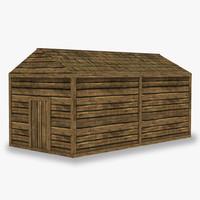 3d wooden barn