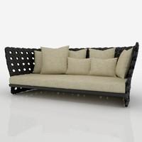 3d model of canasta sofa