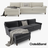 3d crate barrel montclair 2 model