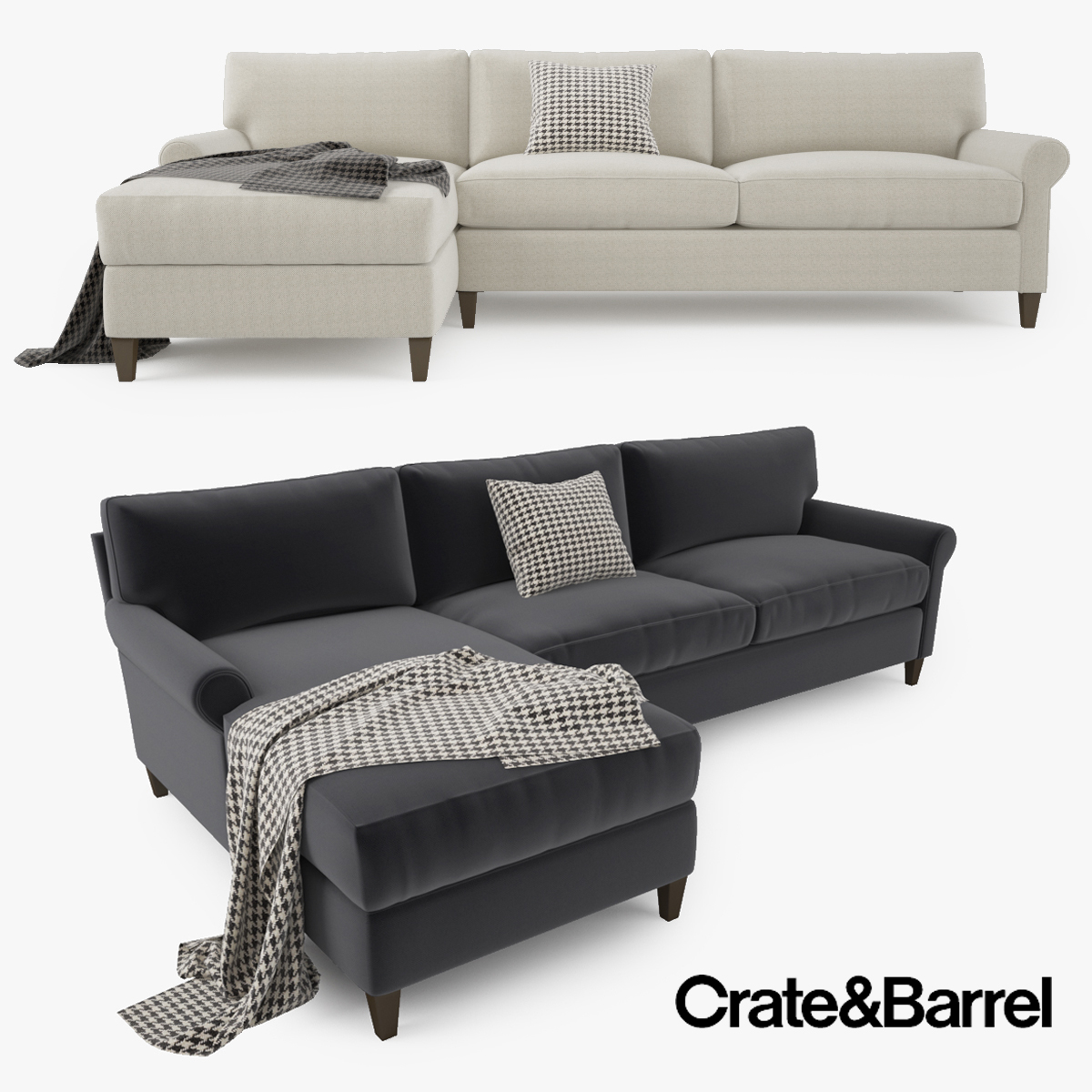 Astonishing Crate And Barrel Montclair 2 Piece Sectional Sofa Inzonedesignstudio Interior Chair Design Inzonedesignstudiocom