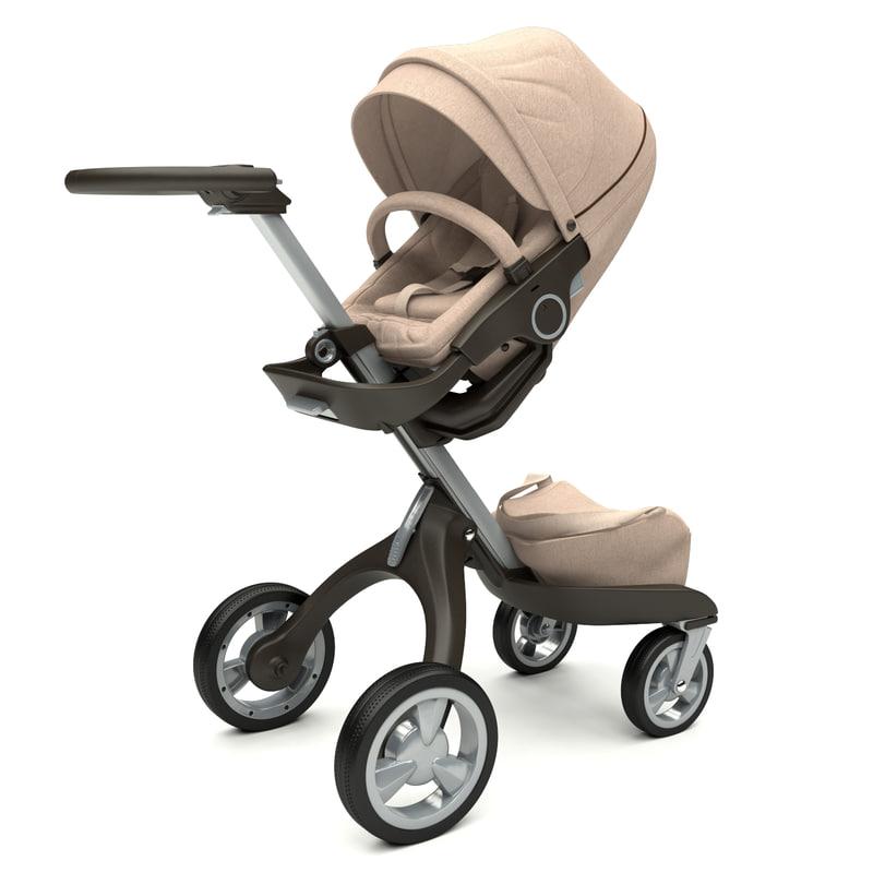 stokke xplory baby stroller 3d max